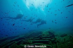 After a scuba visit on a TETI wreck.  A slow ascent after... by Gosia Nowodyla 